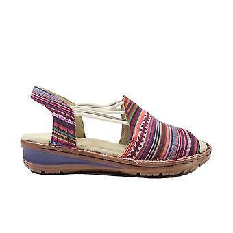 Ara Hawaii 27241-74 Multi Coloured Canvas Womens Pull On Slingback Elasticated Sandals