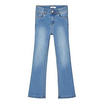 Namn-det Girls Skinny Jeans Polly Dnmtrillas Bootcut Medium Blå
