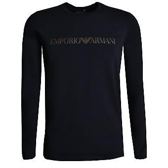 EA7 Men's Black Long Sleeved T-shirt