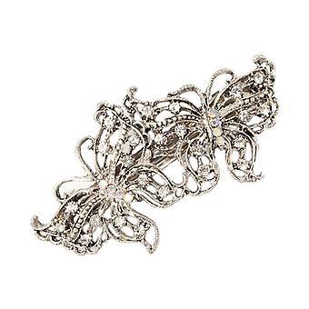 Starší dívky jiskřivý diamante motýl barrette spona na vlasy