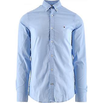 تومي هيلفيغر الأزرق كور تمتد سليم تناسب قميص