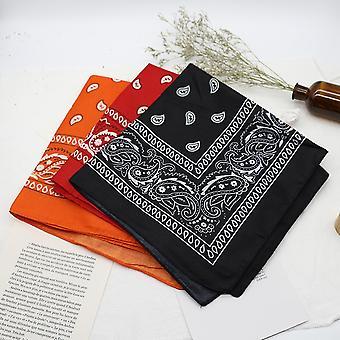 5 PCS/Set Bandana kerchief Unisex Hip Hop Neck Scarf Hair Band Sports Headwear Wrist Wraps Print Handkerchief Head Square Foulards