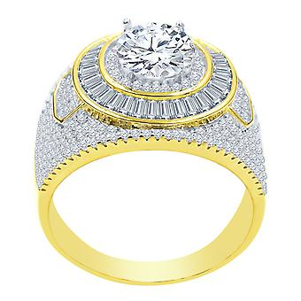 Sterling 925er Silber Micro Pave Ring - CONVEX