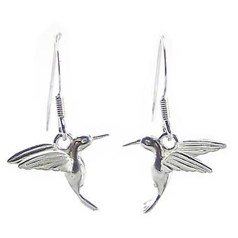 Hummingbirds Sterling Silver Hook Brincos .925 X 1 Par Drops