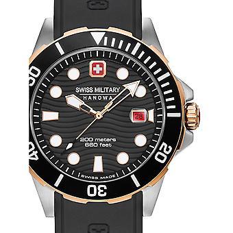 Reloj masculino militar suizo Hanowa 06-4338.12.007, cuarzo, 44 mm, 10ATM