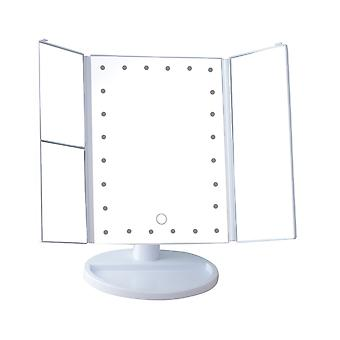 YANGFAN LED Tri-fold Reversible Desktop Vanity Mirror