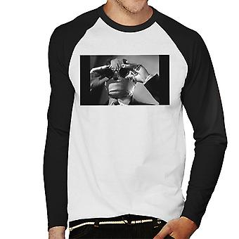 The Invisible Man Touching Glasses Men's Baseball Long Sleeved T-Shirt