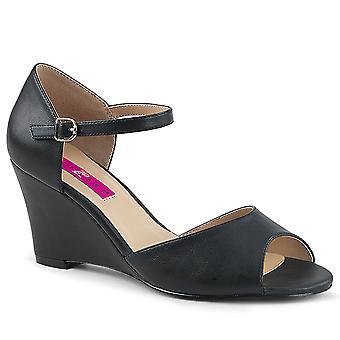 Pleaser Women's Schoenen Roze Blk Faux Leather