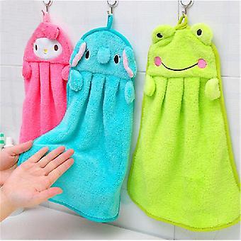 Barn tecknad djurkök, bad hängande torka mjuk handduk