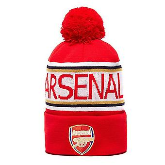 Arsenal FC Cuff Football Supporter Fan Beanie Hat Red/White