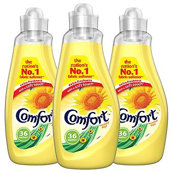 6x of 36 Washes Comfort Sunshiny Fabric Conditioner 1.26L, Total 216 Washes