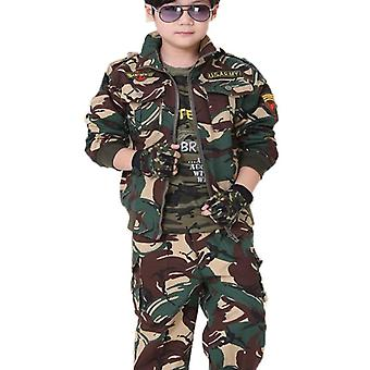 Child Spring And Autumn Camouflage Suit