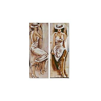 Pintura Dekodonia Lady Bege Lacquered (2 pcs) (40 x 2 x 120 cm)