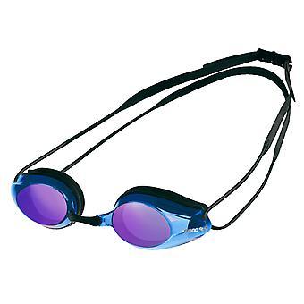 Arena spår spegel simma Goggle - speglad lins - svart/blå