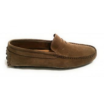 Men's Shoes Ancient Cooker Moccassus Tubular Mod. Etium Suede Col. Slate Us18ac01