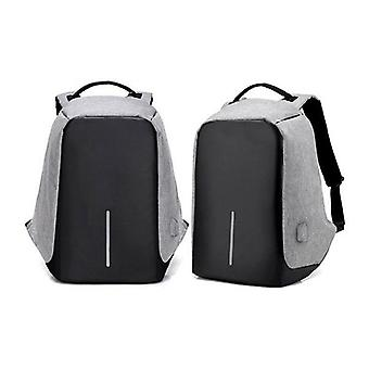 Grey Anti Theft Backpack Waterproof Bag Travel Laptop Bags Usb Charging