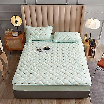 刺绣珊瑚羊毛床垫保护器适合床单式封面