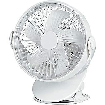EXTSUD USB Fan, 360Adjustable Clip Fan, 4000mA Mini Portable Rechargeable Desk Fan, Noiseless