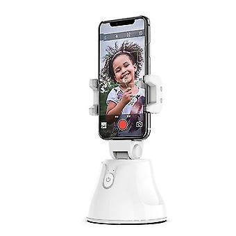 ホワイトポータブルオールインワン自動スマート撮影セルフスティック,360○âスマートフォローアップ