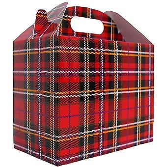 10 x TARTAN GABLE GIFT BOXES Hamper Box (pack of 10)