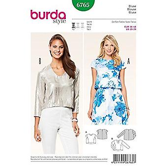 Burda Ladies Easy Sewing Pattern 6765 Misses Loose Fitting Cropped Tops Size 10-20