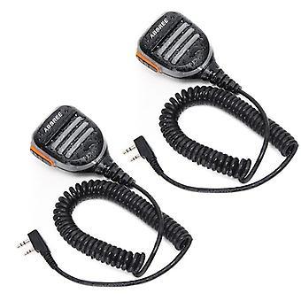 Ar-780 2 Pin Ptt Remote Waterproof Speaker Mic For Walkie Talkie Radio