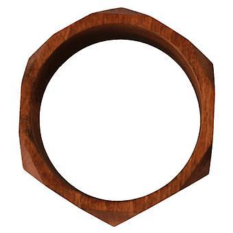 Costume National Brown Wooden Branded Bracelet