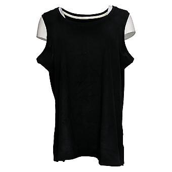 Isaac Mizrahi Live! Women's Top Essentials Scoop Neck Tank Black A374863