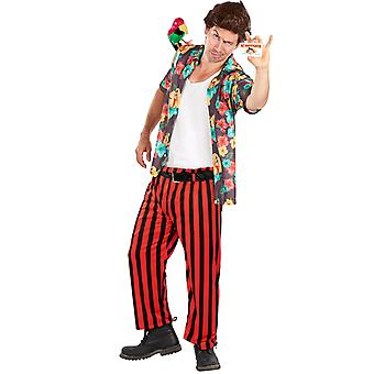 Mens Ace Ventura Pet Detective Style Film Fancy Dress Kostym