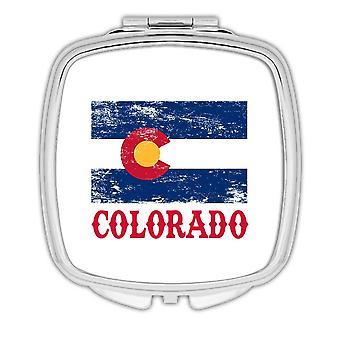 Gift Compact Mirror: Colorado Flag