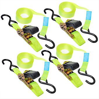 ProPlus set of 4 straps with ratchet + 2 hooks 5 m 320205