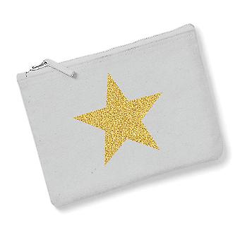Grey With Gold Star Womens Beauty Bag