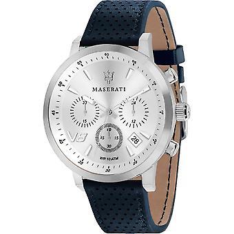 Maserati R8871134004 Men's Blue Strap Granturismo Wristwatch