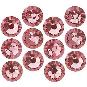 Kryształ Swarovskiego, Okrągły Flatback Rhinestone SS7 2.2mm, 72 Sztuk, Różaniec Róża F