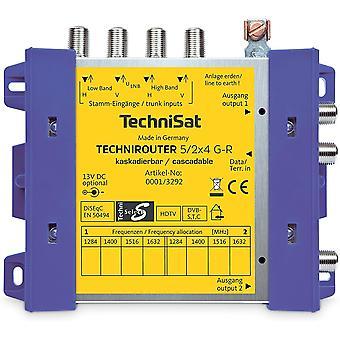 FengChun TECHNIROUTER 5/2x4 G-R, Einkabellösung / Verteiler für zwei Kabelstränge, 1