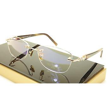 Paul Vosheront PV362 C1 23KT Gold Plated Eyeglasses Frame Italy Made