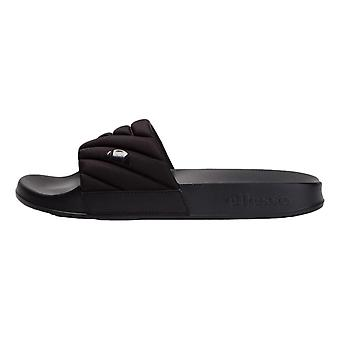 Ellesse Filippo Quilted Slides - Black / Black
