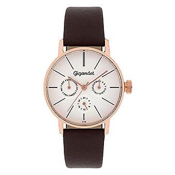 Gigandet Minimalism Women's Watch Analog Multifunction Clock Quartz Gold Red Brown G38-004