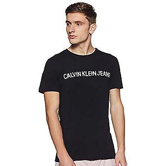 Calvin Klein Core Institutional Logo Slim Tee T-shirt, Black (CK Black 099), L Man