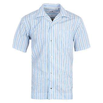 NN07 Oliver Stripe Short Sleeve Shirt - Blue