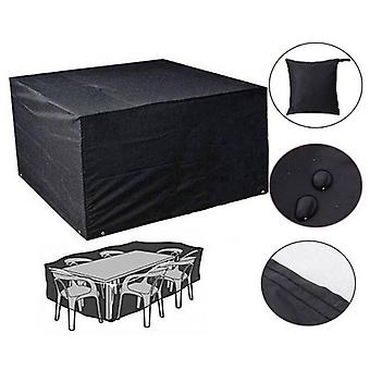 (123*123*74cm)Waterproof Outdoor BBQ Table Chair Cover Garden Patio Furniture Cover