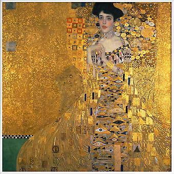 JUNIQE Print -  Klimt - Portrait of Adele Bloch-Bauer I - Gustav Klimt Poster in Bunt & Gelb