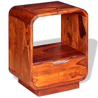 vidaXL nachtkastje met lade massief hout 40 x 30 x 50 cm