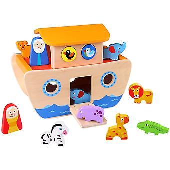 Giocattolo per attività in legno arca di Noè