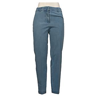 Isaac Mizrahi Live! Jeans donna 8 Petite 24/7 Denim Straight Blue A275475