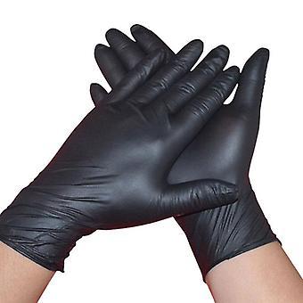 10pcs/lot Disposable Nitrile Black Gloves