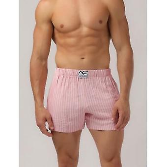 Adam Smith - Side Pocket Relax Shorts - Pink-Stripe