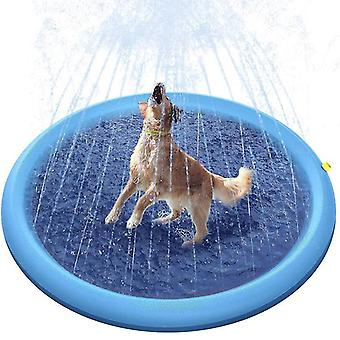 Play Cooling Pet Sprinkler Mat Swimming Pool Outdoor Inflatable Water Spray Pad(170cm)