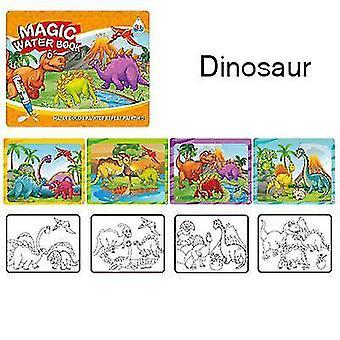 Libro illustrato riutilizzabile per bambini Graffiti Water Painting Book (Dinosauro)