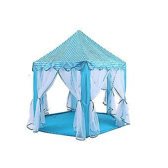 Princess Tent Girl Coliseum Tente de jeu du château pour enfants avec des jouets Starlight (bleu)